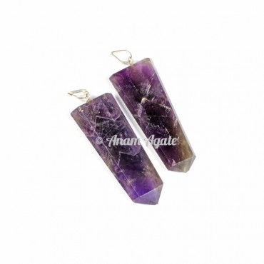 Amethyst Flat Pencil Pendants