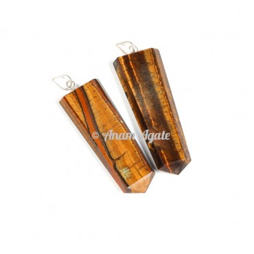 Tiger Eye Flat Pencil Pendants