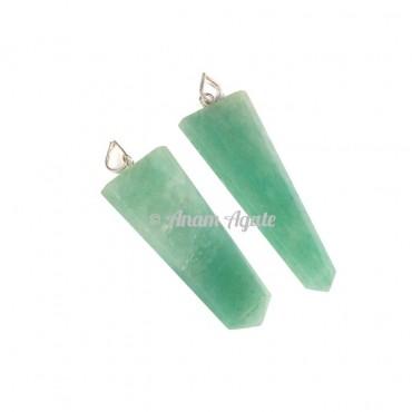 Green Aventurine Flat Pencil Pendants