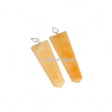 Golden Quartz Flat Pencil Pendants
