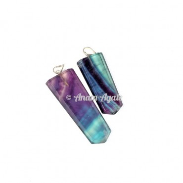 Multi Flourite Flat Pencil Pendants