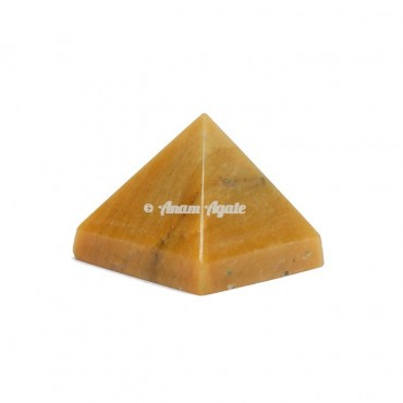 Golden Quartz Pyramid