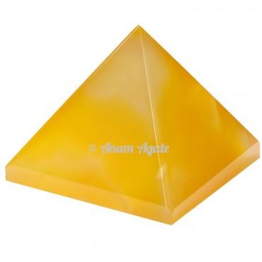 Yellow onyx Pyramids