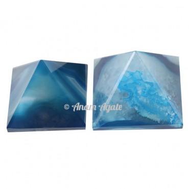 Blue onyx Pyramids