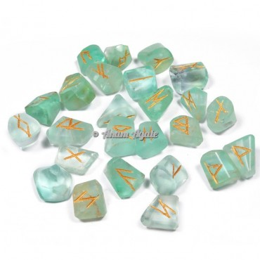 Green Fluorite Rune Set
