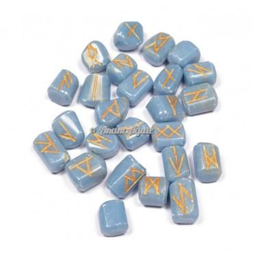 Angelite Rune Set