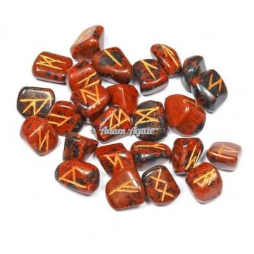 Mahagony Jasper Rune Set