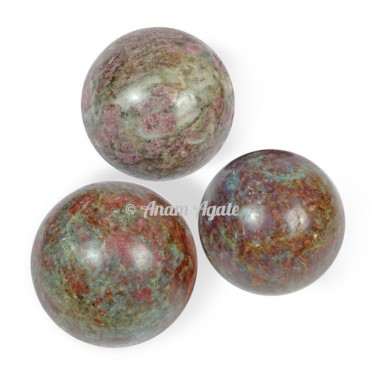 Ruby Kyanite Ball