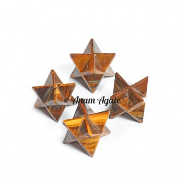 Tiger Eye Merkaba Star