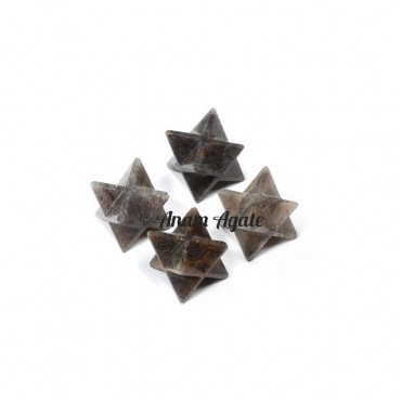Smokey Quartz Merkaba Star