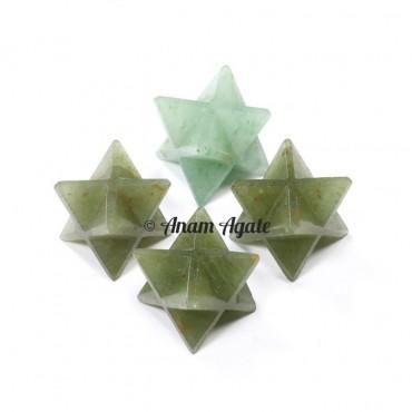 Green Aventurine Merkaba Star