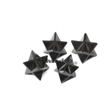 Black Agate Merkaba Star