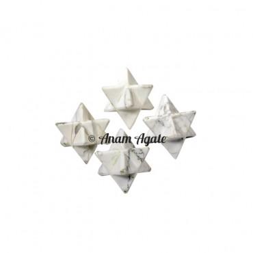 Howlite Merkaba Star
