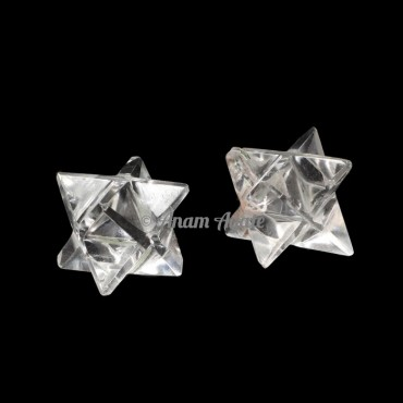 Clear Quartz Merkaba Star