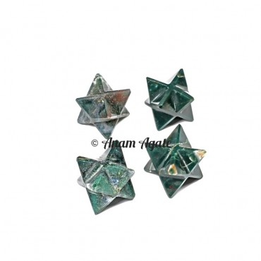 Blood stone Merkaba Star