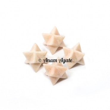 Cream Moonstone Merkaba Star