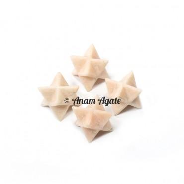 Cream Moonstone Merkaba Star
