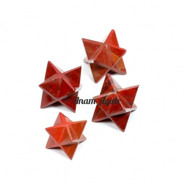 Red Jasper Merkaba Star