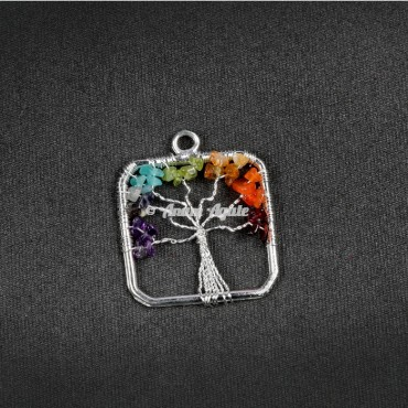 Tree of Life Pendant in Square Shape