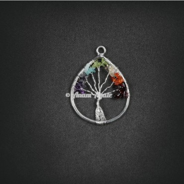 Tree Of Life Pendant in Tear Drop Shape