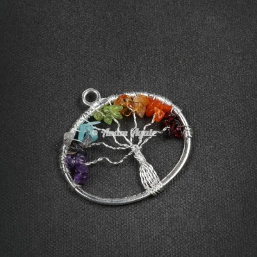 Tree Of Life Pendant in Pentagon Shape