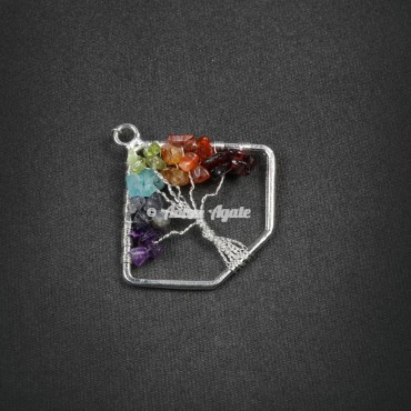 Tree Of Life Pendant in Triangle Shape