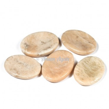 Cream Moonstone Worry Stone