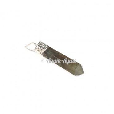 Labradorite  Cap Pencil Pendants