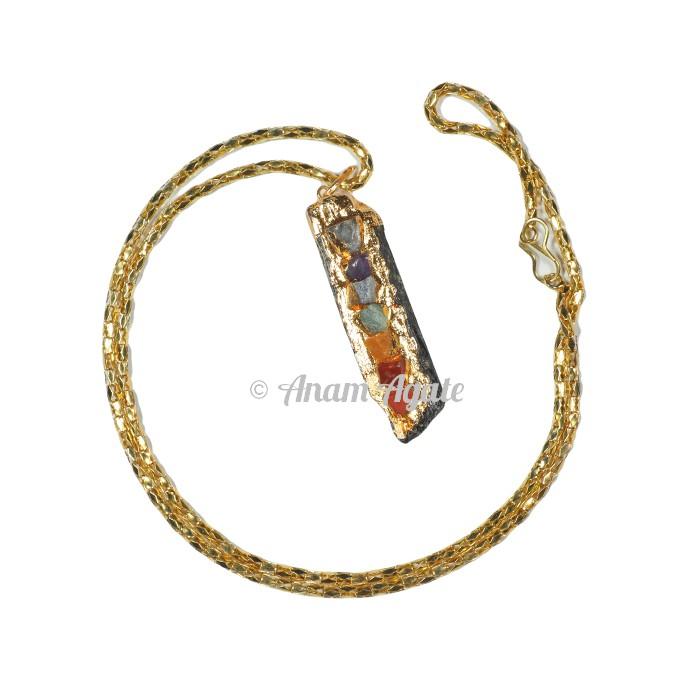 Tourmaline Gold Chakra eletro Pendants