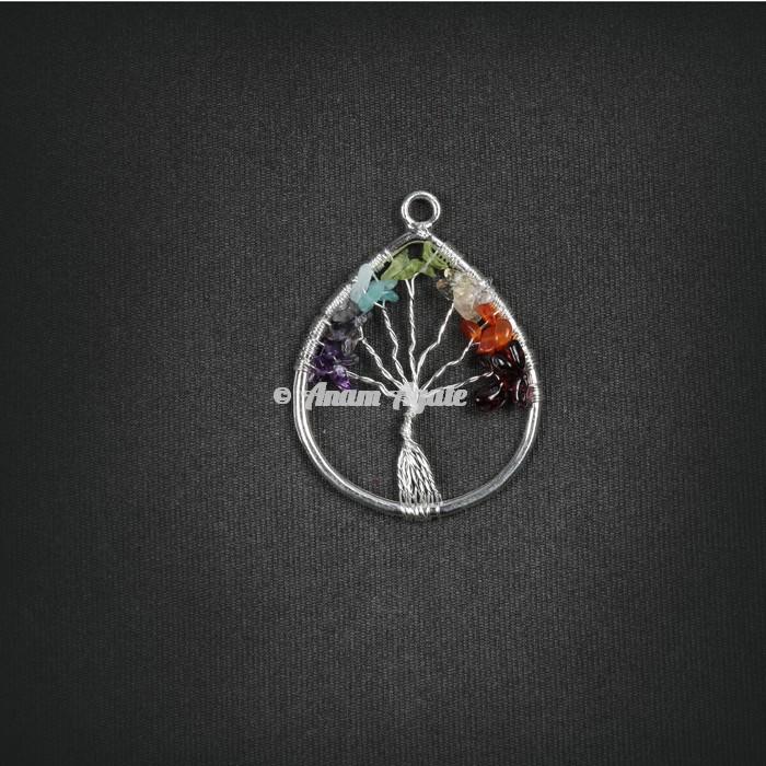 Tree Of Life Pendant in Tear Drop Shape
