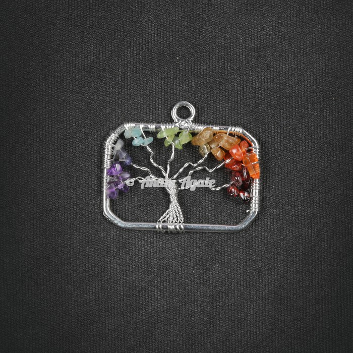 Tree Of Life Pendant in Rectangle Shape