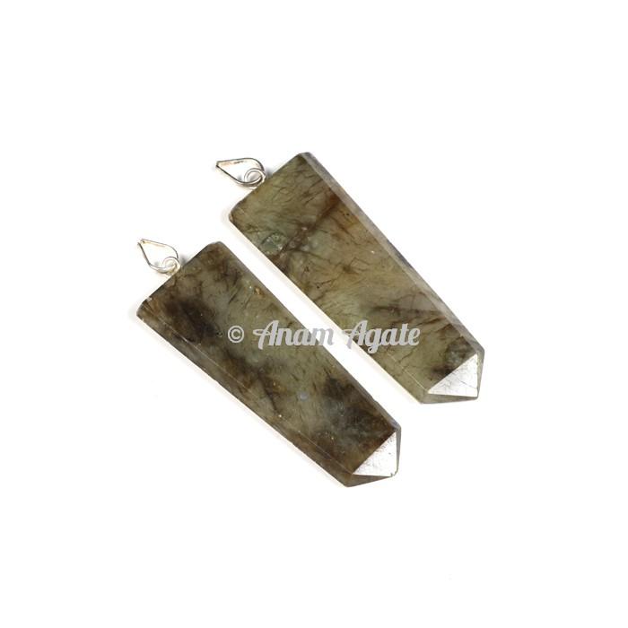 Labradorite  Flat Pencil Pendants